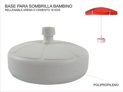 Base sombrilla plastico sombrillas for Precio de sombrillas