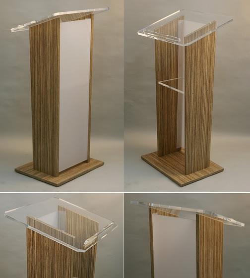 Podium acrilico melamina modelo ar15 podiums para orador for Modelos de zapateros en melamina